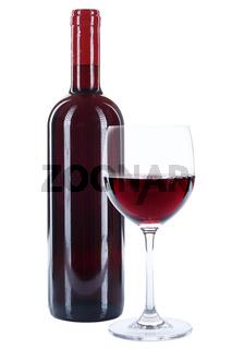Weinflasche Wein Flasche Glas Weinglas rot roter Rotwein freigestellt Freisteller