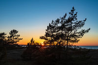 Sonnenuntergang an der Ostseeküste in Prerow