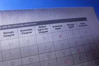 Survey or questionnaire form