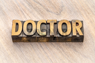 doctor word in wood type