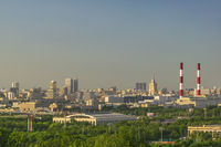 Moscow Russia, city skyline view from Sparrow Hill