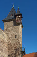 Tower at Castle Wernigerode in Germany. Harz.