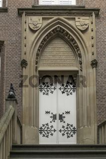 Eingang, Schloss Moyland, Kleve, Niederrhein, NRW