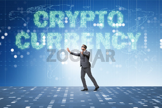 Businessman confused about all cryptocurrencies
