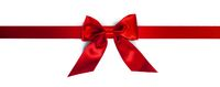 Red gift bow on white