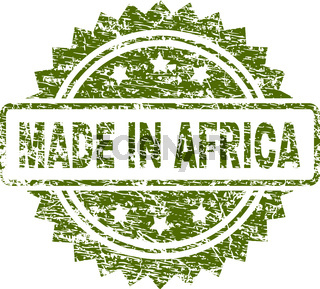 Scratched Textured MADE IN AFRICA Stamp Seal