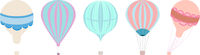 Classic Hot Air Balloons Vector