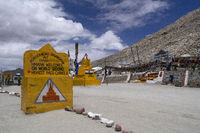 The Chang La at elevation 5,360 m is a high mountain pass in Ladakh, India.