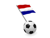 Soccer ball with the flag of Netherlands