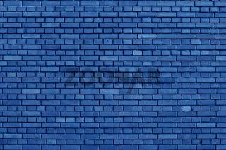 Nebulas Blue colored brick wall background