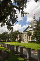 Security Barriers Protect The State Capital Building in Tallahassee Florida