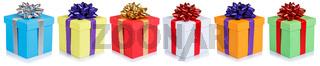 Geschenke Geburtstag Weihnachten Weihnachtsgeschenke in einer Reihe Geburtstagsgeschenke Schachteln schenken