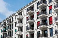 apartment building facade -  real estate exterior - modern architecture