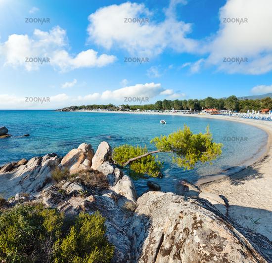 Summer Platanitsi beach, Sithonia, Greece