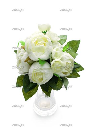 Foto Peony Flowers Isolated On White Bild 12128293