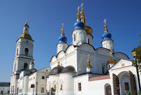 St. Sophia-Assumption Cathedral and the belfry of Tobolsk Kremlin. Tobolsk. Tyumen Oblast. Russia