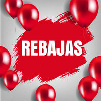 Rebajas Sale Poster With Balloon