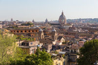 Skyline of Rome, Italy. Rome architecture and landmark. Cityscape of Rome.
