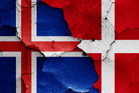 flags of Iceland and Denmark