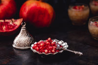 Sliced Pomegranate and Seeds