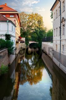 Channal Certovka in Prague