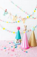 Bunte Dekoration fuer eine Party