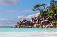 Strand auf Praslin, Seychellen
