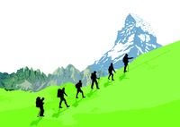 Bergsteiger Gruppe.eps