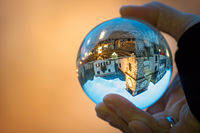 Kotor reflected in a glass ball