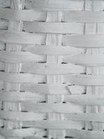 detail of a white wooden texture