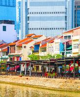 Singapore cityscape, Boat Quay restaurants