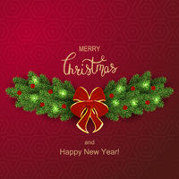Holiday Vector Lettering background. Merry Christmas concept