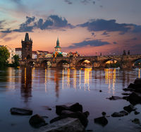 Dawn over Charles Bridge