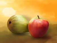 Apfel und Birne