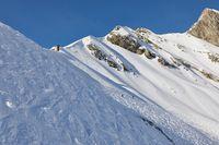 Skiing slopes, majestic Alpine landscape