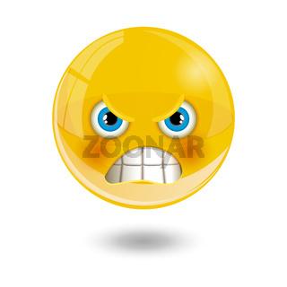 Yellow smiley emoticons, emoji, vector illustration.