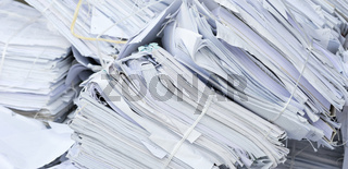 White Paper Collected for Recycling in the PET Factory.