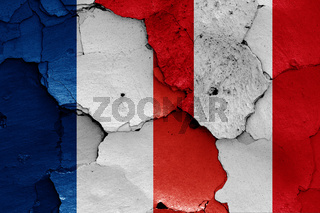 flags of France and Peru