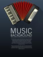 Accordion music background