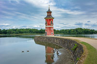 Lighthouse in the park of Moritzburg Castle