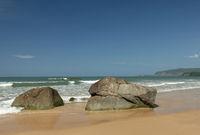 Boulders on Agonda Beach,  South Goa India.