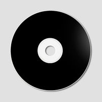 Black CD - DVD mockup template isolated on Grey