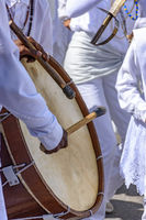 Brazilian ethnic drums in a brazilian folk party