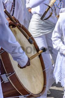 Brazilian ethnic drums in a brazilian folk party