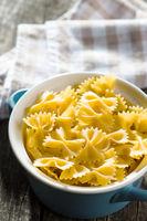 Farfalle pasta. Tasty italian pasta.