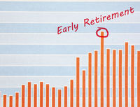 Early retirement investing concept