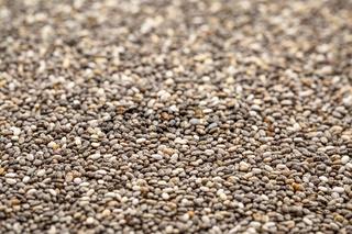 black chia seed background