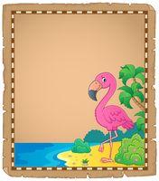 Flamingo topic parchment 1