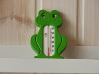 thermometer green frog
