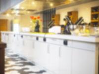 Blurred kitchen interior background